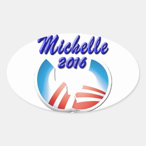 Michelle 2016 oval sticker