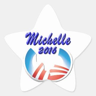Michelle 2016 pegatina en forma de estrella
