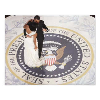 Michelle and Barack Obama Card