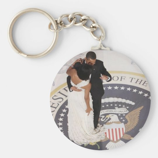 Michelle and Barack Obama Keychain