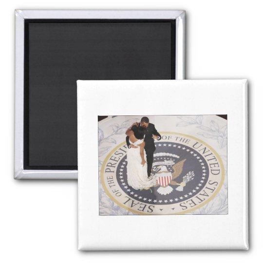 Michelle and Barack Obama Magnet