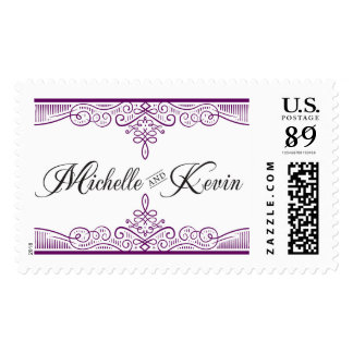 Michelle and Kevin monogram stamp