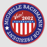 Michelle Bachmann for President 2012 Classic Round Sticker