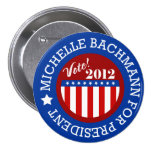 Michelle Bachmann para los pernos del presidente 2 Pins
