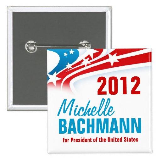 Michelle Bachmann Pin Cuadrada 5 Cm