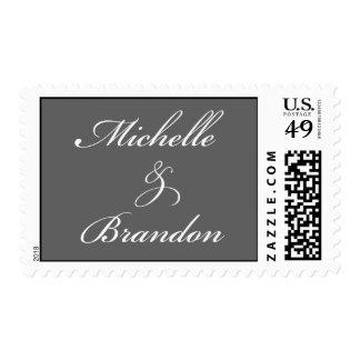 Michelle & Brandon - grey background Postage