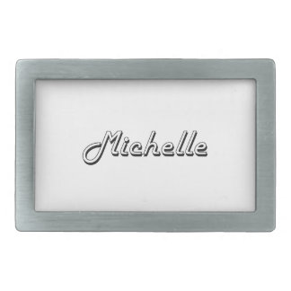 Michelle Classic Retro Name Design Belt Buckle