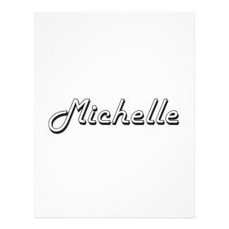 """Michelle Classic Retro Name Design 8.5"""" X 11"""" Flyer"""