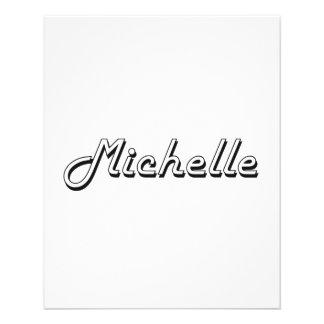 """Michelle Classic Retro Name Design 4.5"""" X 5.6"""" Flyer"""