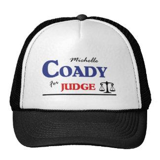 Michelle Coady para el juez Gorras