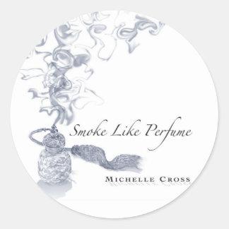 Michelle Cross - Smoke Like Perfume CD Cover Classic Round Sticker