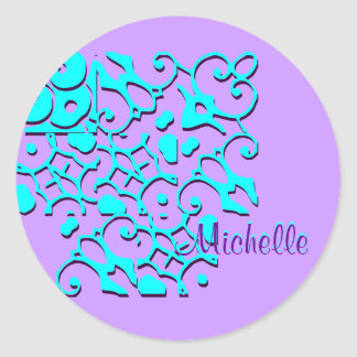 Michelle Designer Name Sticker