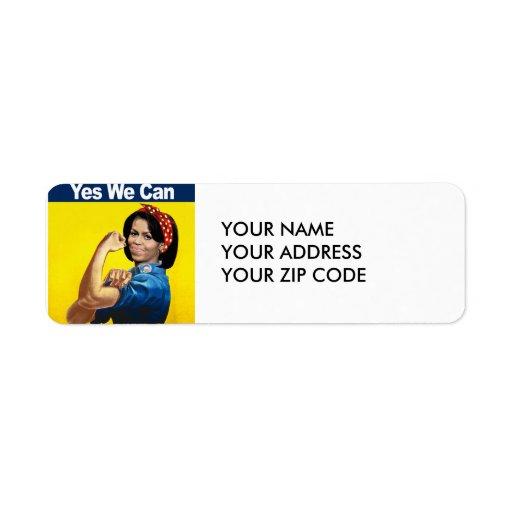 Michelle el remachador - sí nosotros can.png etiquetas de remite