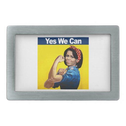 Michelle el remachador - sí nosotros can.png hebillas de cinturon rectangulares