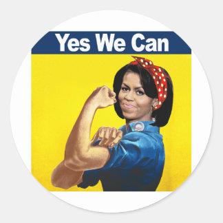 Michelle el remachador - sí nosotros can.png pegatina redonda