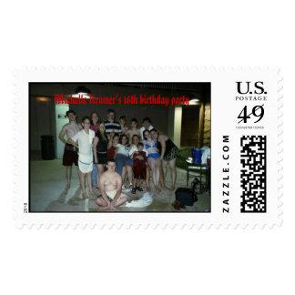 Michelle Kramer's 16 birthday party Postage