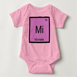 Baby name michelle gifts on zazzle michelle name chemistry element periodic table baby bodysuit urtaz Images