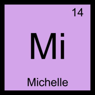 Baby name michelle gifts on zazzle michelle name chemistry element periodic table keychain urtaz Images