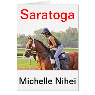 Michelle Nihei Training on Opening Day at the Spa Card