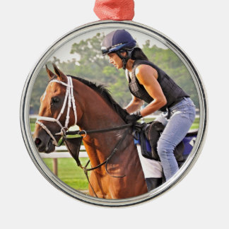 Michelle Nihei Training on Opening Day at the Spa Metal Ornament