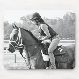 Michelle Nihei Training on Opening Day at the Spa Mouse Pad