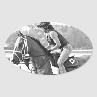 Michelle Nihei Training on Opening Day at the Spa Oval Sticker