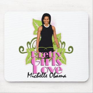 """Michelle O """"chicas bonitos ama"""" el cojín del orden Alfombrillas De Ratones"""