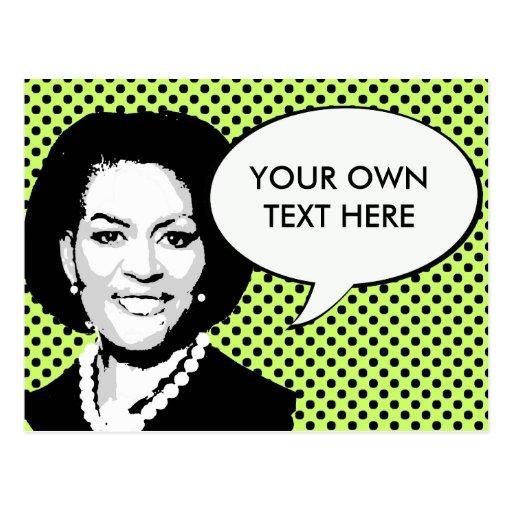 Michelle Obama 2012 Postcard