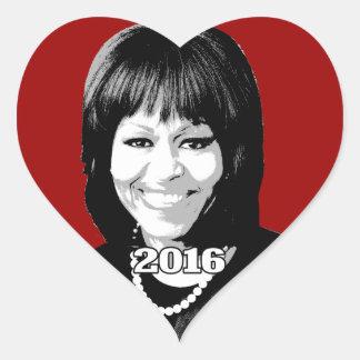 MICHELLE OBAMA 2016 Candidate Heart Sticker