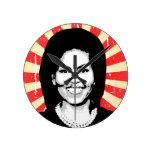 Michelle Obama 2016 Round Clocks