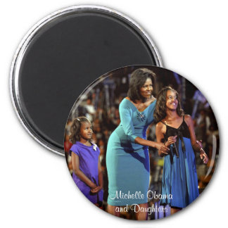 Michelle Obama and Daughters Magnet