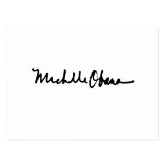 MICHELLE OBAMA AUTOGRAPH -.png Postcard
