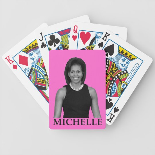 MICHELLE OBAMA BICYCLE PLAYING CARDS