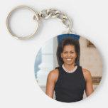MICHELLE OBAMA Collectors Basic Round Button Keychain