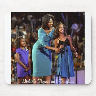 Michelle Obama e hijas Tapete De Raton