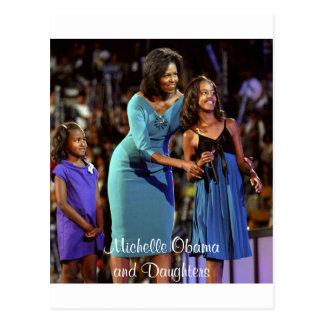 Michelle Obama e hijas Tarjetas Postales