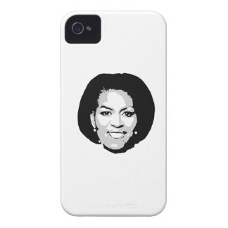 MICHELLE OBAMA FACE -.png iPhone 4 Case-Mate Cases