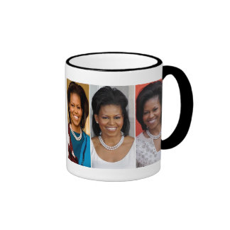 MICHELLE OBAMA FASHION QUEEN IN ENGLAND RINGER MUG