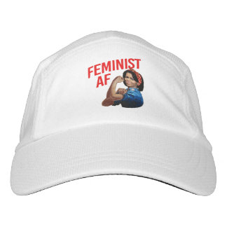 Michelle Obama - Feminist AF - red --  Headsweats Hat