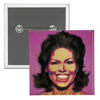 Michelle Obama - First Lady Pinback Buttons