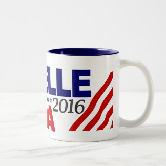 Michelle Obama For President 2016 Two-Tone Coffee Mug