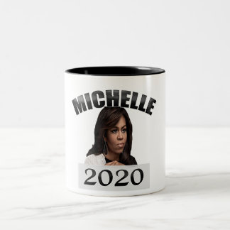 Michelle Obama for President 2020 Two-Tone Coffee Mug
