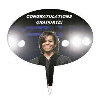 Michelle Obama -Grad Cake Topper rd2