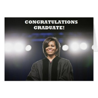 Michelle Obama-Graduation Card