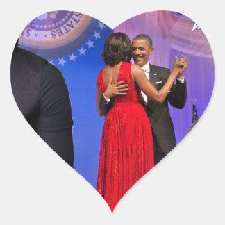 Michelle Obama Heart Sticker