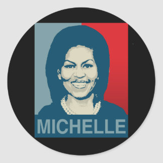 MICHELLE OBAMA HOPE -.png Classic Round Sticker