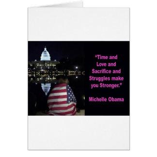 Michelle Obama inspiration quote Card