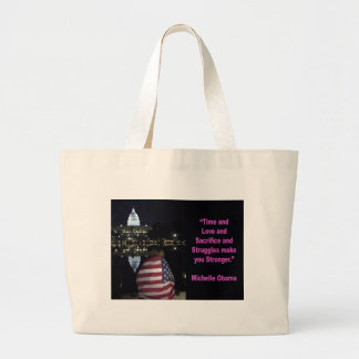 Michelle Obama inspiration quote Large Tote Bag