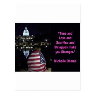 Michelle Obama inspiration quote Postcard