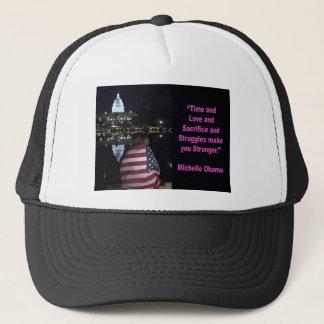 Michelle Obama inspiration quote Trucker Hat
